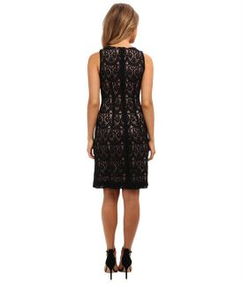 Jessica Howard Sleeveless Sheath Dress w/ Beaded Yoke