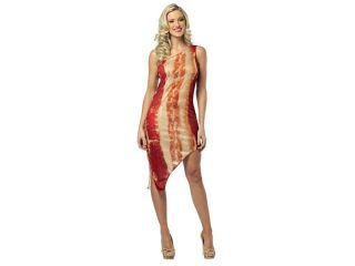 Sexy One Shoulder Bacon Dress Costume Adult One Size Fits Most