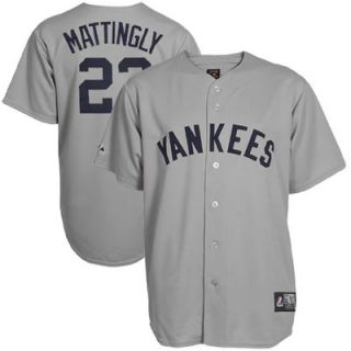 Don Mattingly New York Yankees #23 Majestic Cooperstown Collection Throwback Jersey   Gray