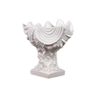 Urban Trends Collection White Ceramic Seashell   14968234