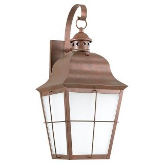 Sea Gull 1 Light Outdoor Wall Lantern   Weathered Copper