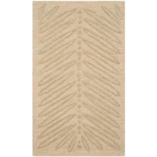 Safavieh Chevron Leaves Oolong Tea Green 2 ft. 6 in. x 4 ft. 3 in. Area Rug MSR3612B 3