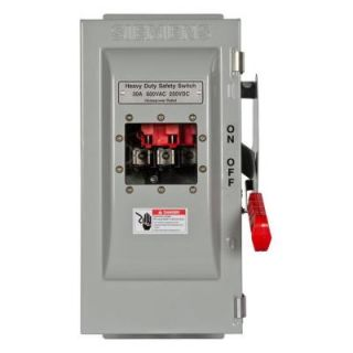 Siemens Heavy Duty 30 Amp 600 Volt 3 Pole Type 12 Fusible Safety Switch with Window HF361JW