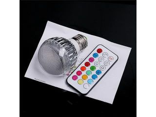 Tomotop 2 Million Color RGB E27 LED Flash Light Bulb with Remote Control