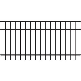 Veranda Natural Reflections Standard Duty 3 ft. H x 6 ft. W Black Aluminum Pre Assembled Fence Panel 73008838
