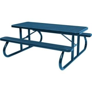 Tradewinds Park 8 ft. Blue Commercial Picnic Table HD D111GS BL