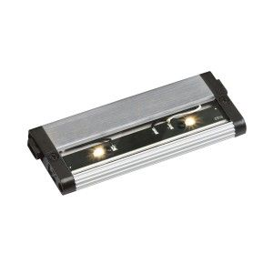 "Kichler 12311NI27 LED Under Cabinet Light, 6"" Design Pro 24V Strip   2700K   Brushed Nickel"