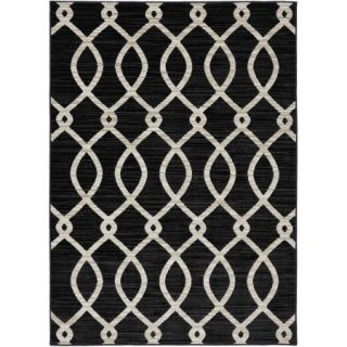 Mohawk Home Strada Woven Area Rug, Black