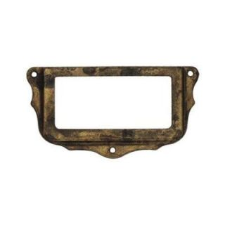 Classic Hardware Bosetti Marella 2.96 in. Antique Brass Distressed Card Holder 101081.03