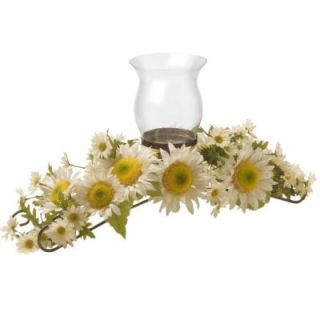National Tree Company 25 in. W White Sunflower Candle Holder ED3 106 25C A