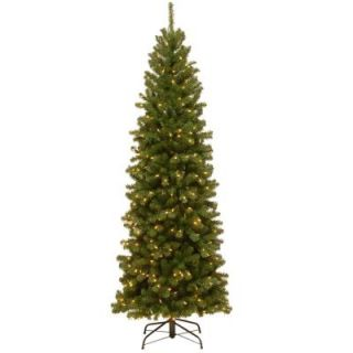 National Tree Company 7 1/2 ft. Feel Real Montana Spruce Hinged Artificial Christmas Tree with 550 Clear Lights PEMT3 307 75