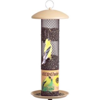 NO/NO Tan Straight Sided Sunflower Tube Wild Bird Feeder