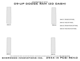 2009 2012 Dodge Ram Wood Dash Kits   Sherwood Innovations 3944 N50   Sherwood Innovations Dash Kits