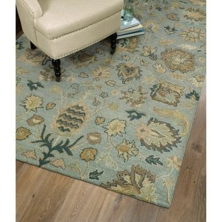 Christopher Kashan Hand tufted Light Blue Rug (4 x 6)   15682306