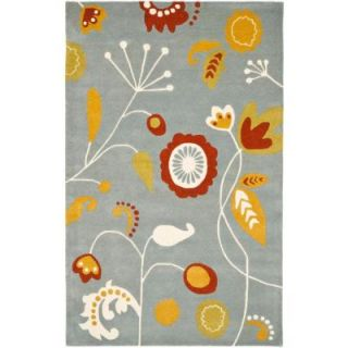 Safavieh Soho Light Blue/Multi 7 ft. 6 in. x 9 ft. 6 in. Area Rug SOH772A 8