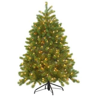 4.5 ft. Feel Real Downswept Douglas Fir Artificial Christmas Tree with 300 Clear Lights PEDD4 339 45
