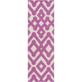 Paddington Magenta/Ivory Geometric Area Rug