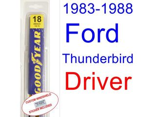 1983 1988 Ford Thunderbird Replacement Wiper Blade Set/Kit (Set of 2 Blades) (1984,1985,1986,1987)