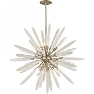 Corbett Lighting COR 217 48 Altitude Modern Silver Leaf  Pendants Lighting