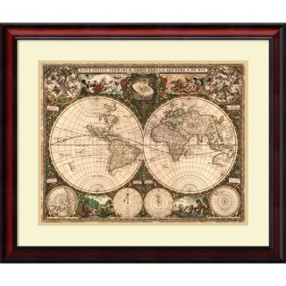 Ward Maps World Map, 1660 Framed Art Print 29 x 25 inch   16825928